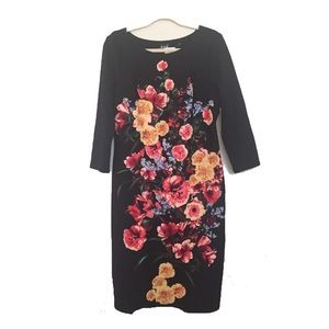Floral knit dress NWT Size 14